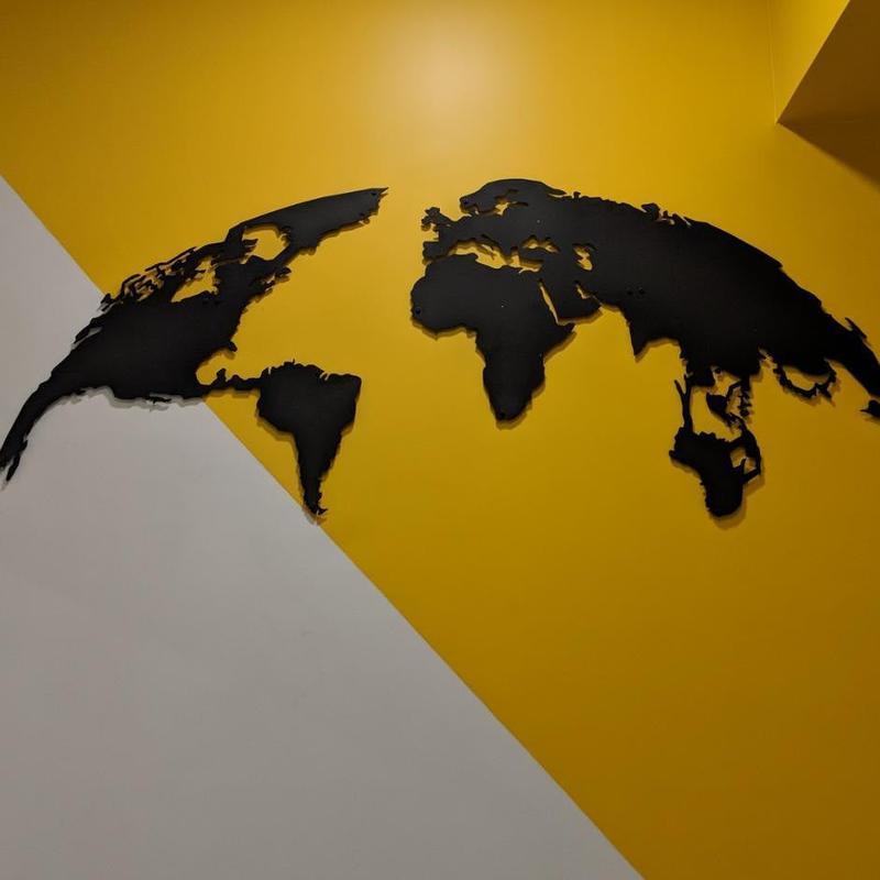 Металлическое панно на стену «Сфера»