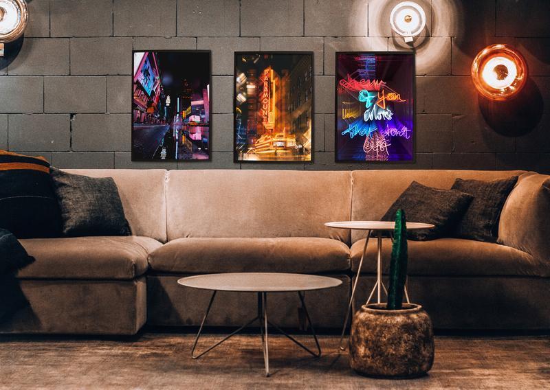Постер Dream NEON в черной рамке А2