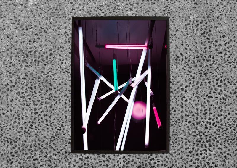 Постер коллекция Lights NEON в черной рамке А2