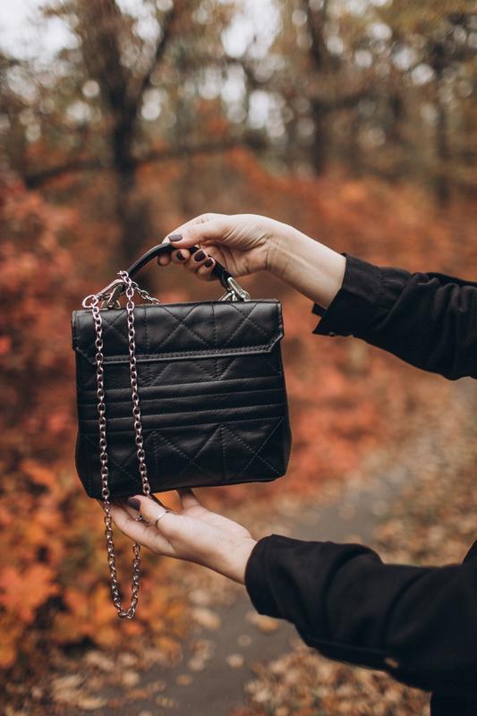 СУМКА CLICK-CLACK ХХ из натуральной кожи, стильная женская кожаная сумка, сумка зі шкіри