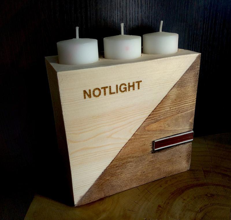 Підсвічник дерев'яний NOTLIGHT