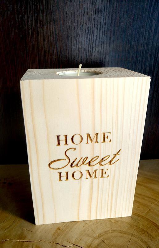 Підсвічник дерев'яний SWEET HOME