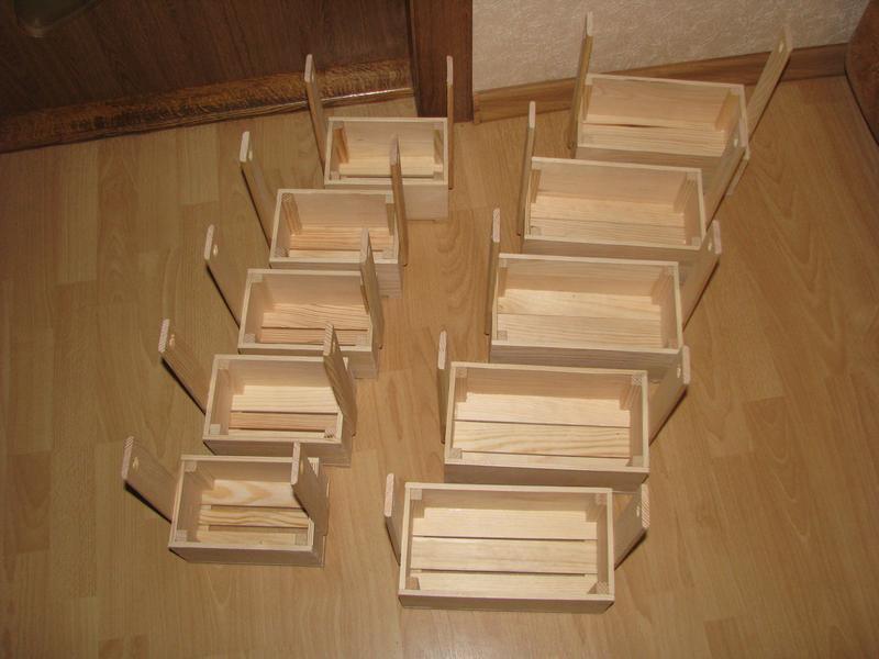 Кашпо деревянные (под канатную веревку)