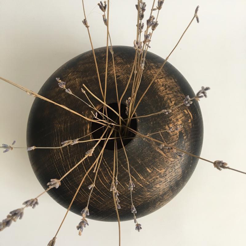 Ваза для сухоцветов из дерева, декоративная ваза