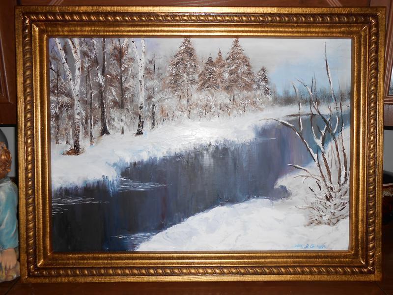 Живопис.Зимовий пейзаж.