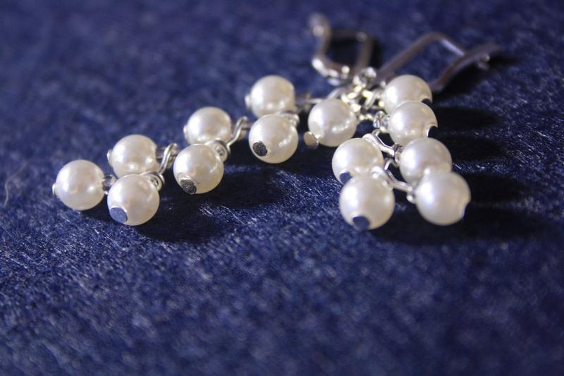 Сережки з перлів