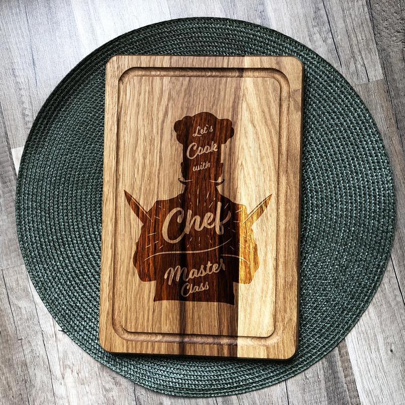 """""""Chef"""" разделочная доска, доска для подачи из дуба 11"""