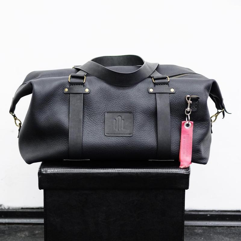 Weekender bag. Кожаная дорожная сумка.