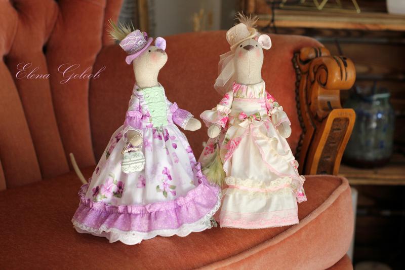 "Мышка- символ года 2020 (""Леди в розовом"")"