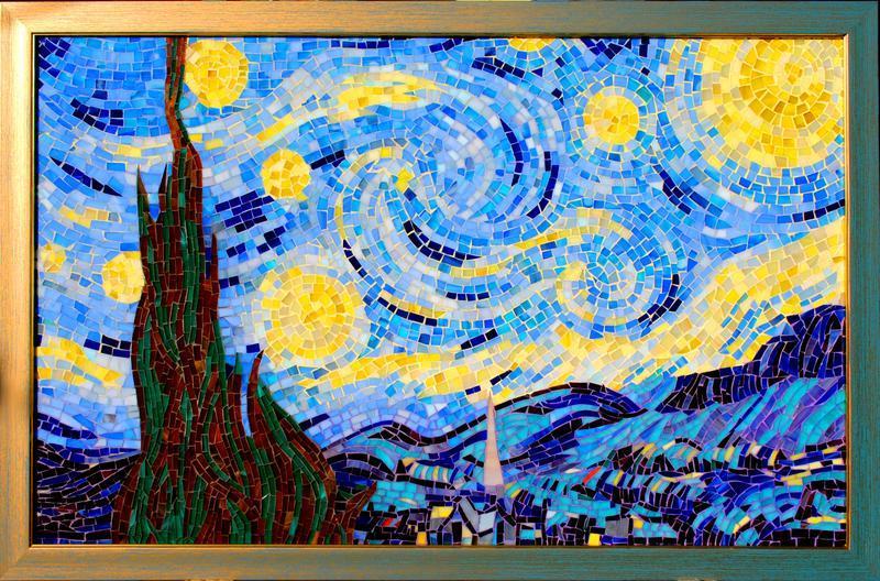 """Мозаїка """"Зоряна ніч"""", скло"""