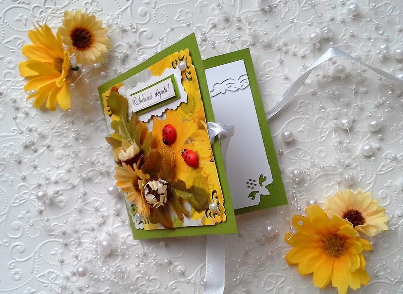 Листівки ручної роботи для улюблених мам. Сет з 2 шт.
