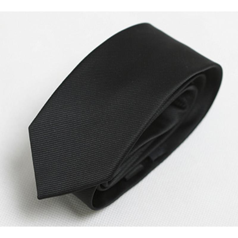 Краватка вузький чорний 6 см - 03358
