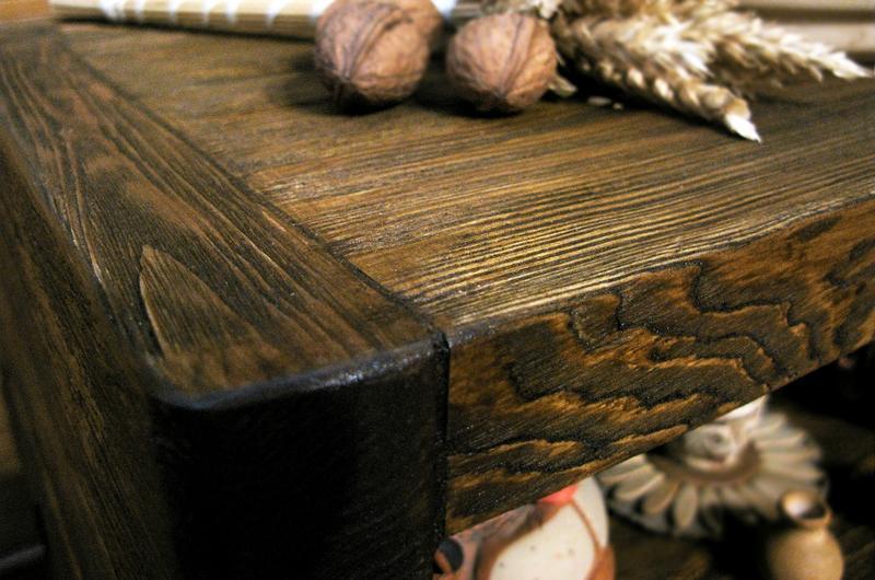 Зістарювання деревини способом брашірованіе. Тумби, ящики для квітів, меблі.