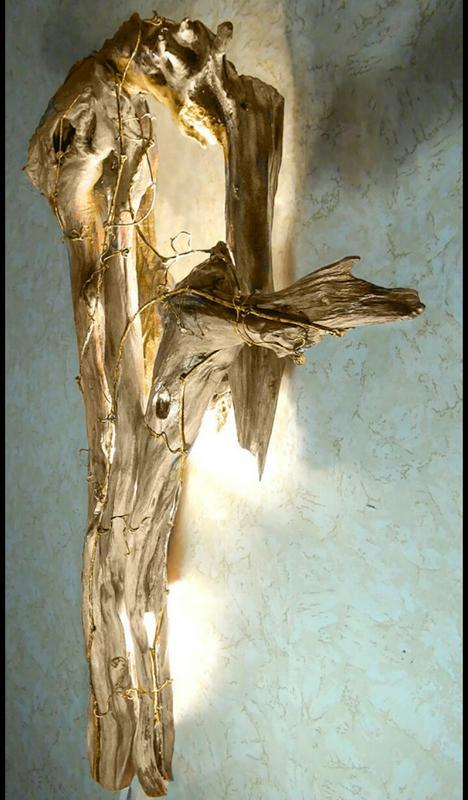 Унікальна Бра з дерева