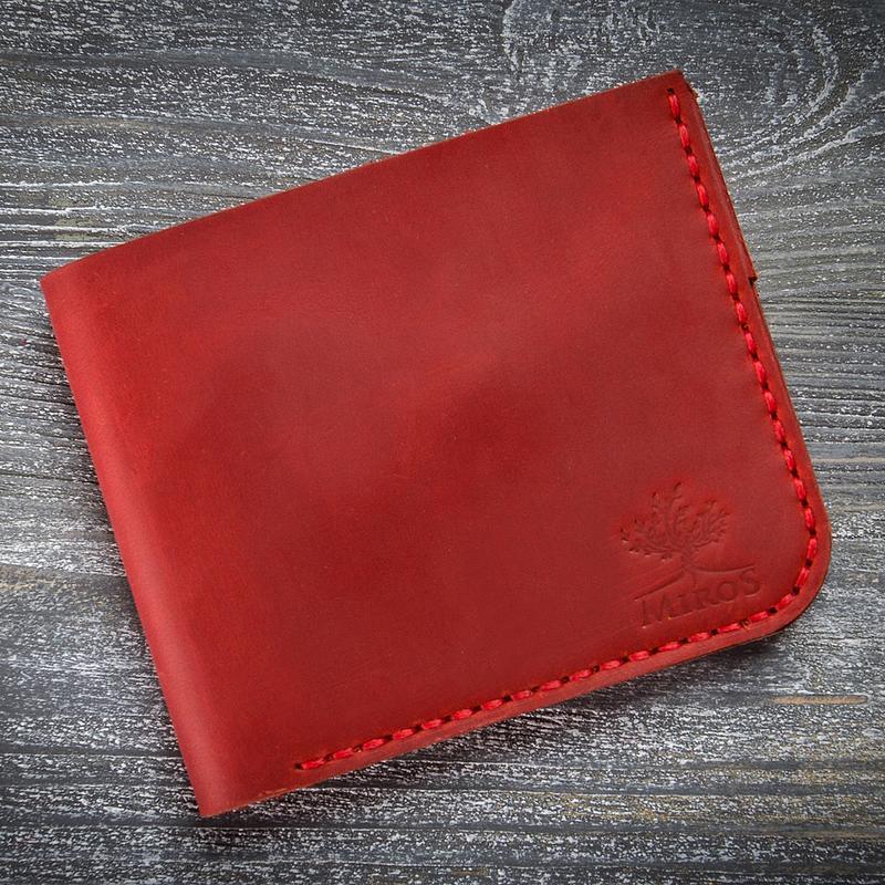 f26429902cf2 Красный маленький кожаный женский кошелек ручной работы купить в ...