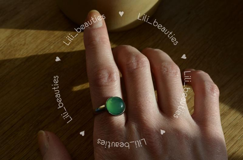 Каблучка з Зеленим Агатом