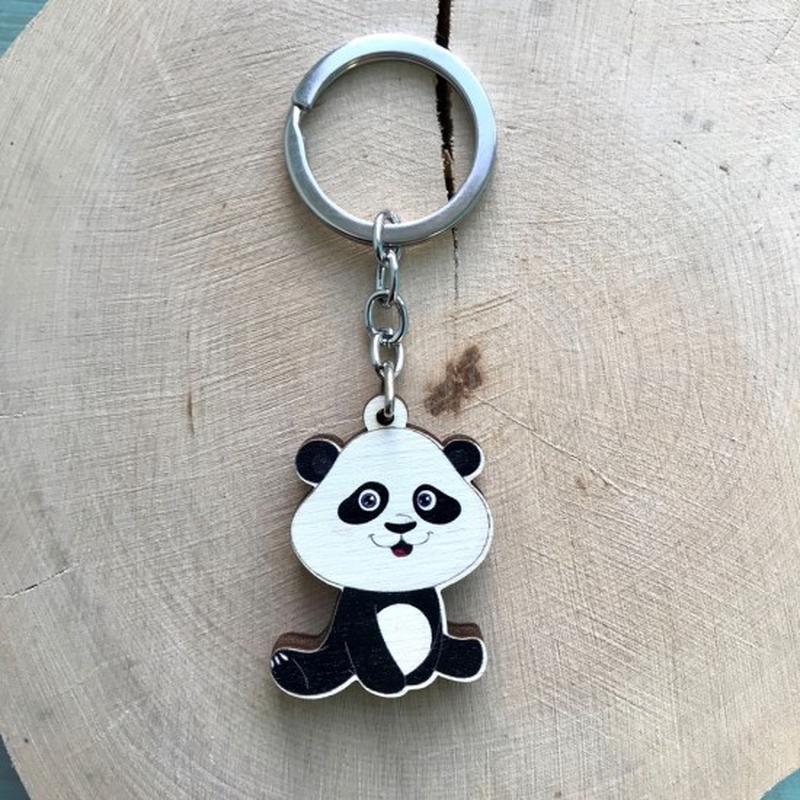"""Деревянный брелок """"Панда"""""""