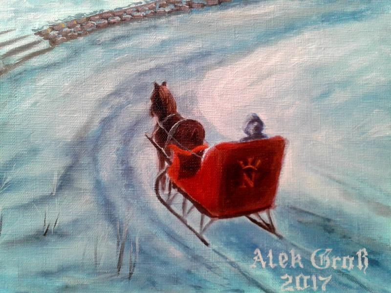 Алек Гросс. Біля Чорної річки. Полотно, олія, 50х70 см