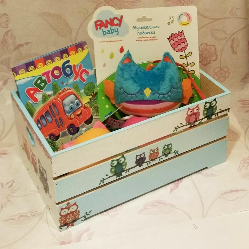 "Великий органайзер для дитячих іграшок ""Совушки"""