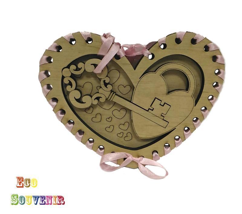 """ЕКО сувенір подарунок на 14 лютого подарунок на день святого Валентина СУВЕНІР """"КЛЮЧИК ВІД МОГО СЕРЦЯ"""""""