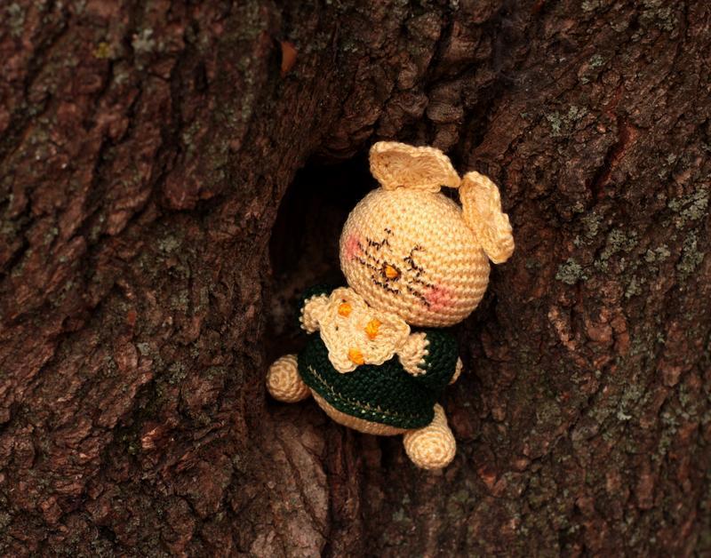 Символ 2020 года Вязаная желтая мышка Маленький мышонок Мягкая игрушка амигуруми Подарок к НГ