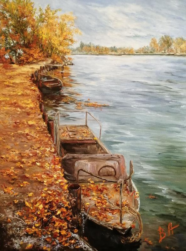 """Картина маслом """"Осень"""", 30х40 см, холст на подрамнике, масло"""