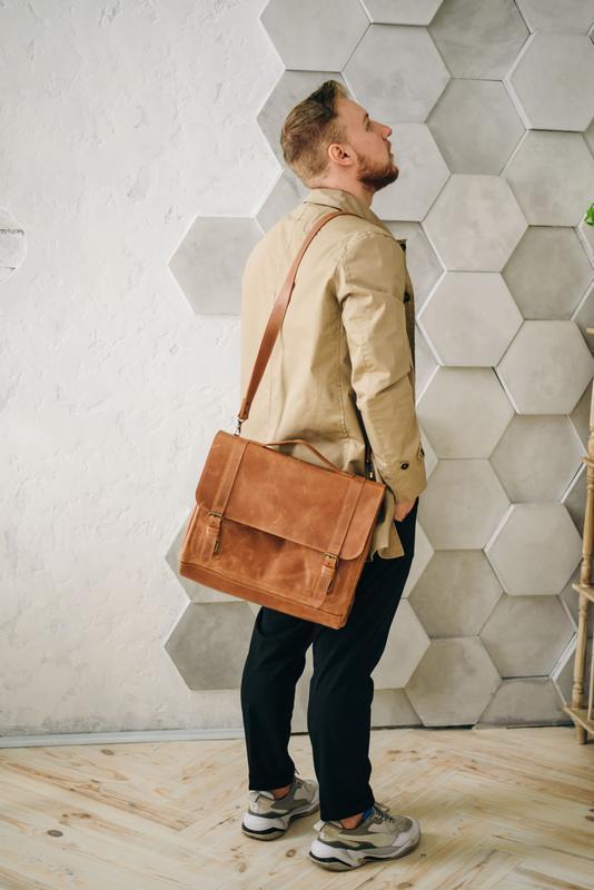 Мужская сумка планшет через плечо, мужской портфель из натуральной кожи, мессенджер