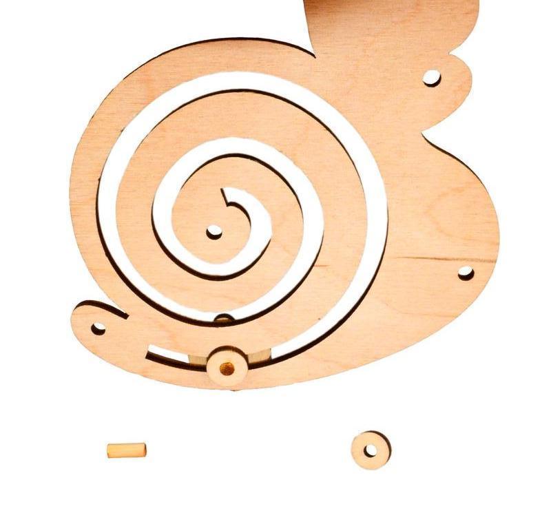 Заготовка для Бизиборда Улиточка деревянный спиральный лабиринт улитка лабіринт для бізіборда