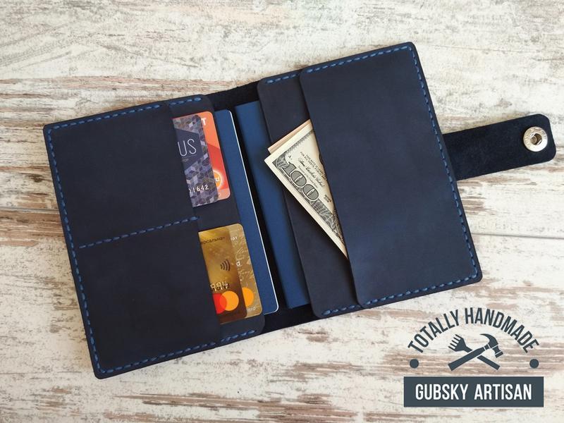Travel case с отделом для паспорта, карт и денег, обложка для документов из натуральной кожи