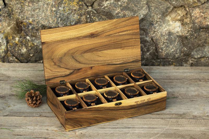 Деревянная Коробочка На Десять Ячеек Для Наручных Часов Персонализированный Подарок На Годовщину