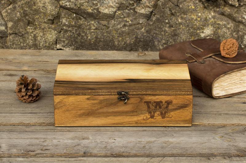 Коробочка Из Дерева Для Подарка Мужчине  С Гравировкой Для Мужских Женских Часов