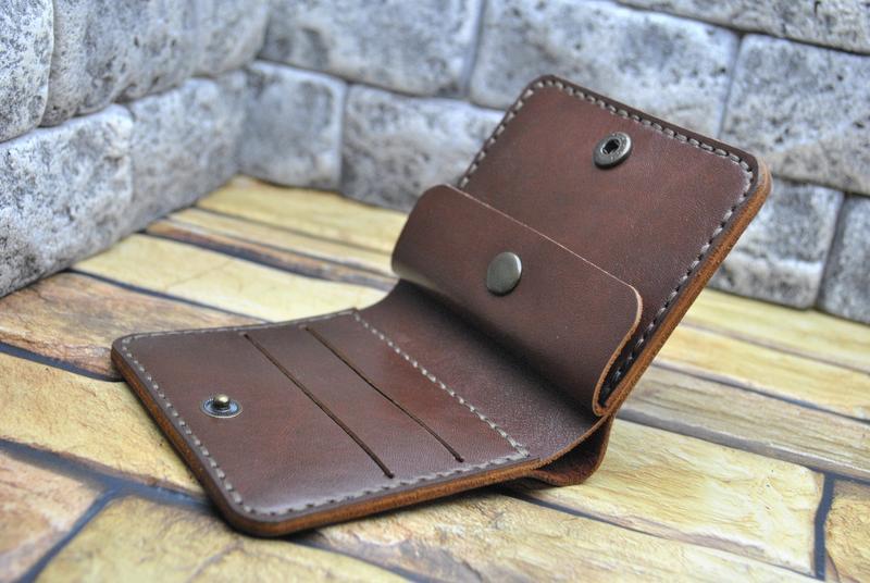 Мужской бумажник из кожи K92-коричневый