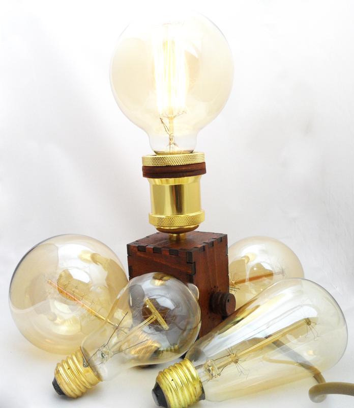Светильник Эдисона / Ретро настольная лампа в стиле Лофт с димером