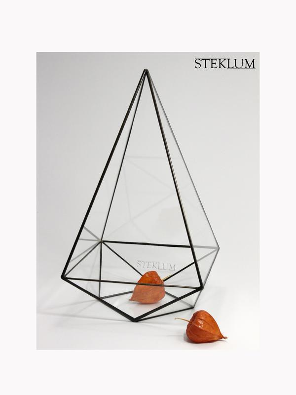 Флорариум №3 optima Franch pyramid black