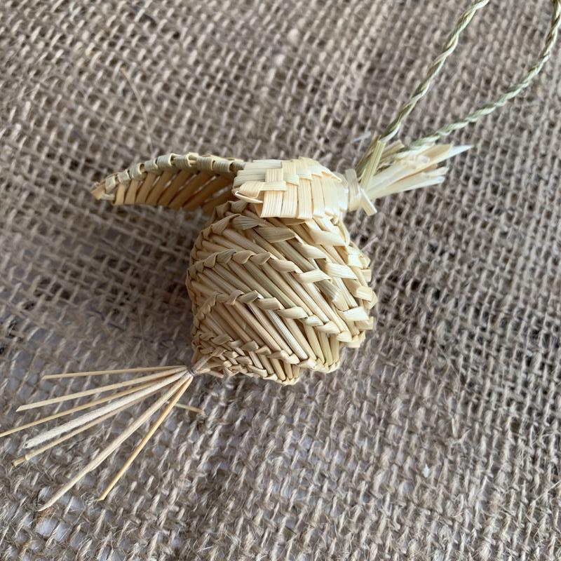Новогодняя игрушка из соломы