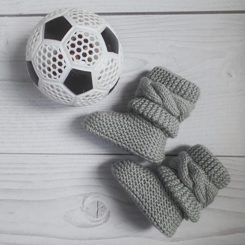 Вязані пінетки.