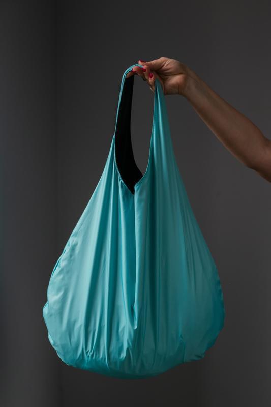 Шоппер мятный. сумка для покупок