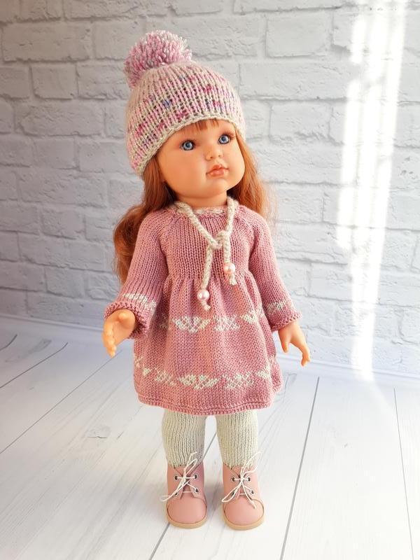 Вязаная одежда на куклу Антонио Хуан 45 см, зимний вязаный комплект на куклу
