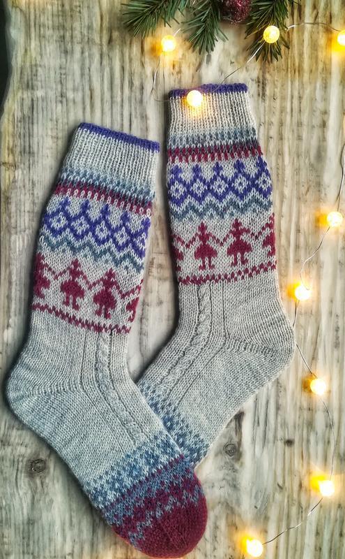 Теплые носки удлиненные