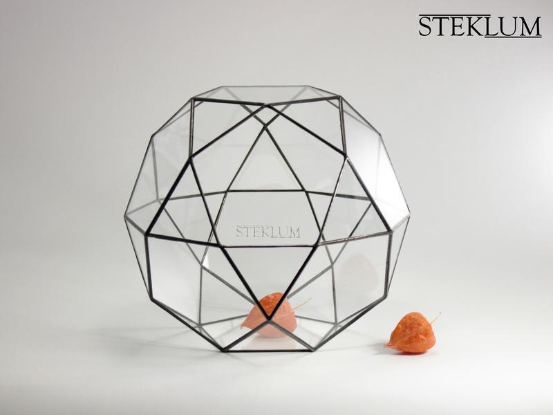 Флорариум №6 maxi Globe black