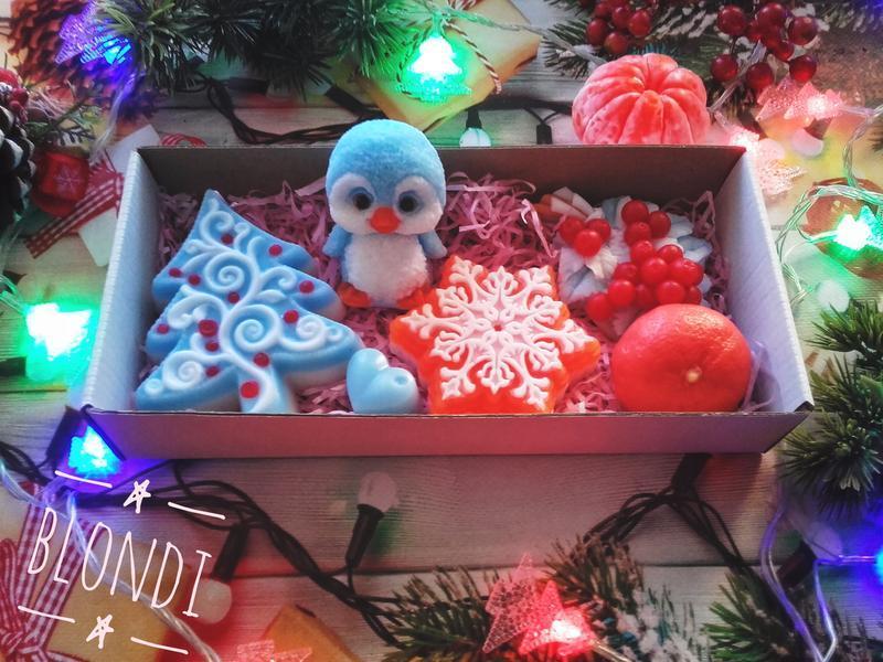 """Подарочный набор """" Новогодний с пингвинчиком"""".""""."""