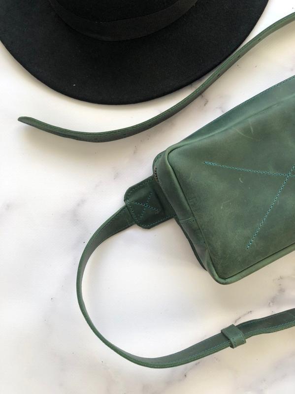 Поясная сумка, сумка бананка из натуральной кожи, кросбоди