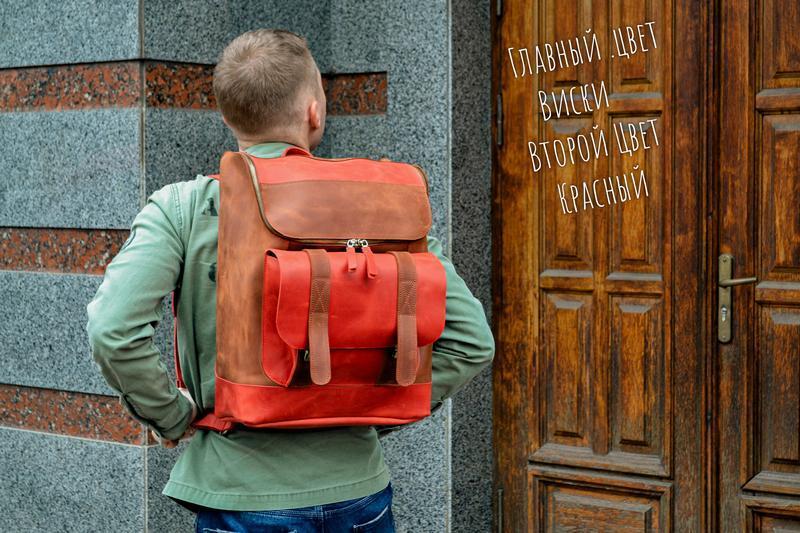 Городской кожаный рюкзак, Мужской рюкзак для ноутбука
