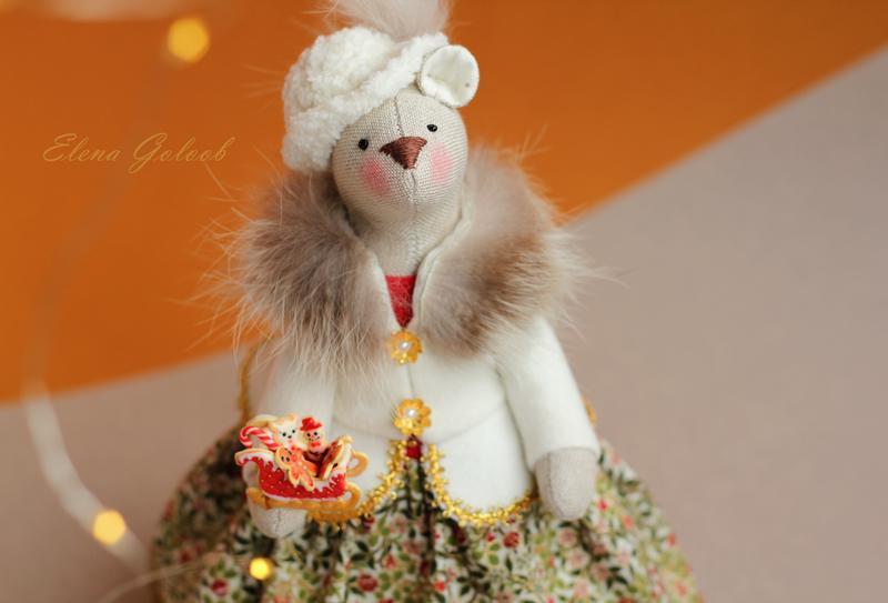 """Мышка- символ года 2020 """"Рождественская"""""""