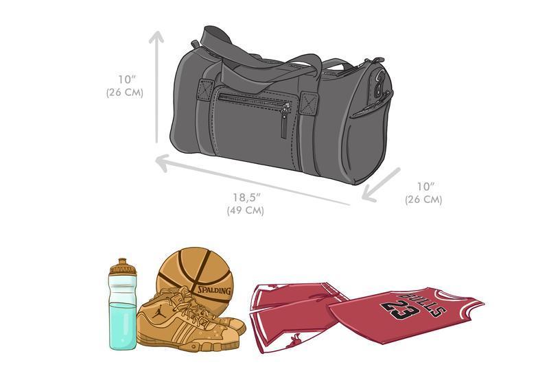 """Дорожно / Спортивная кожаная сумка """"Bonneville"""""""