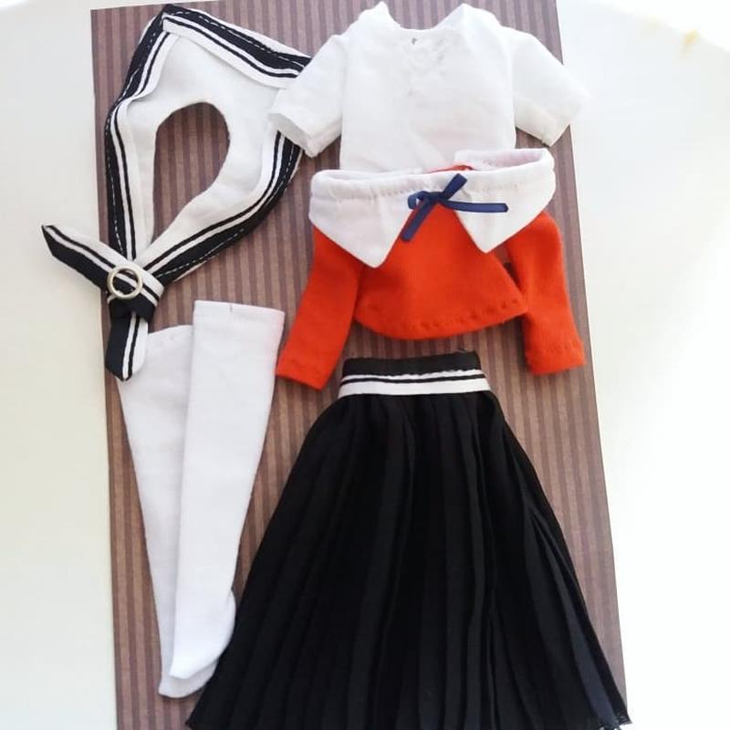 Костюм японської школярки для ляльок Барбі Barbie і Блайз Blythe
