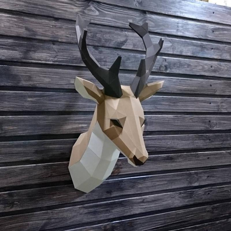 Голова оленя (полигональный трофей)