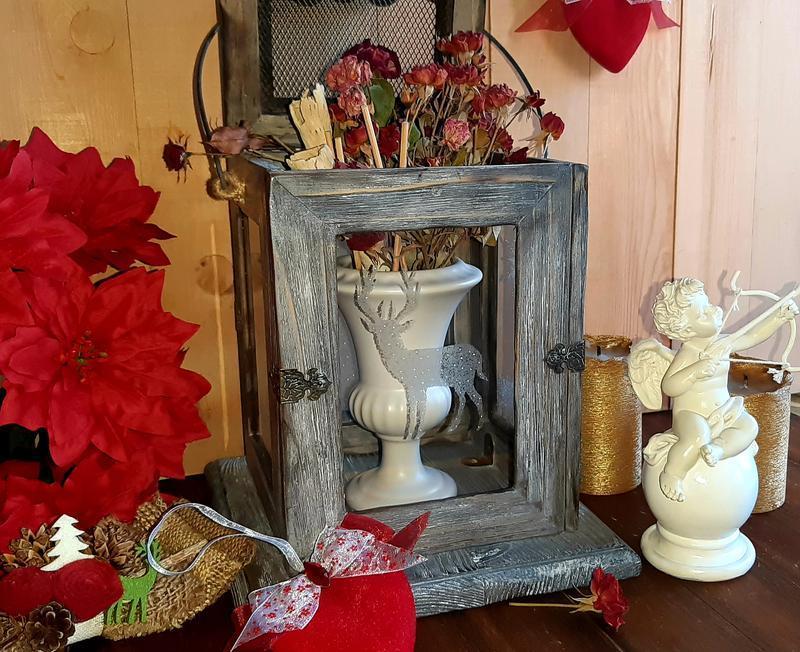 Подсвечник, фонарь, светильник, новогодний декор