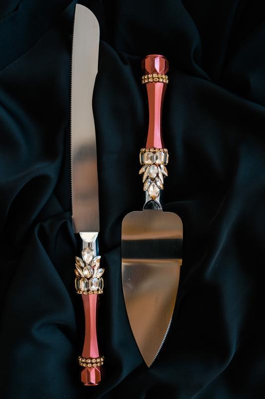 Свадебные бокалы Золотистый марсала