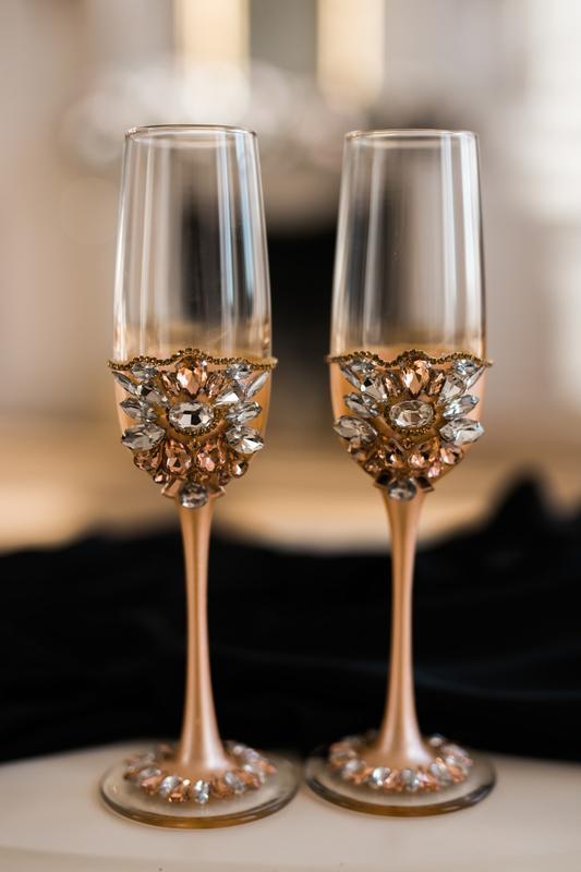 Бокалы на свадьбу Золотистый персик